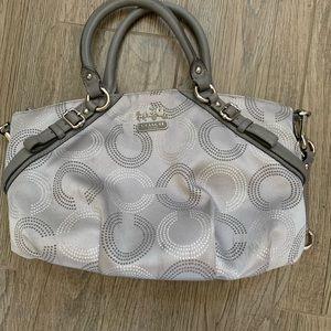 Authentic Silver Coach Handbag